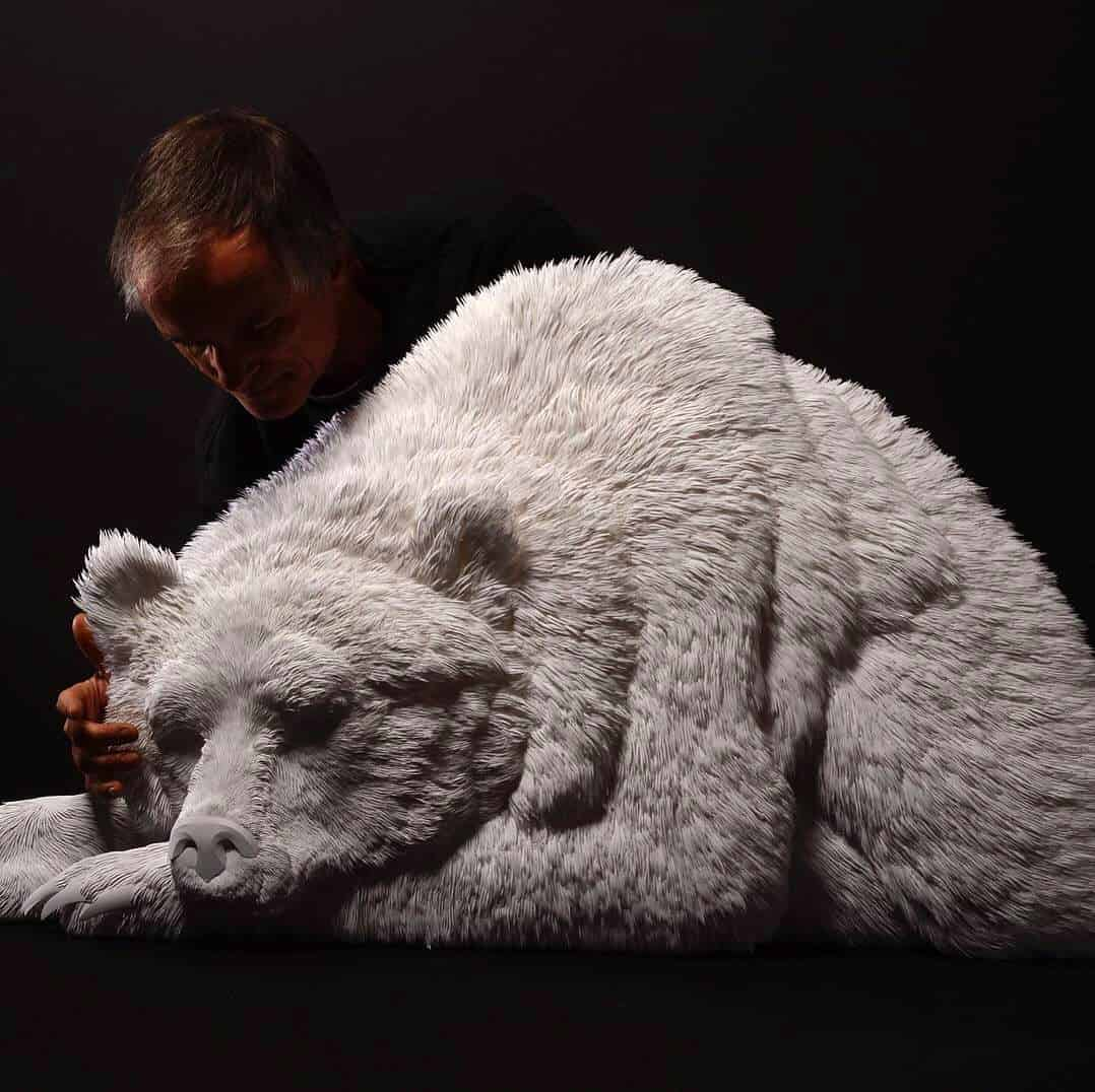 Calvin Nicholls: Paper Sculpture to Explore the Beauty of Wildlife